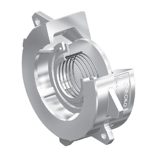 Клапан ARI-Checko-D 55.001DN25 PN40 межфланцевый