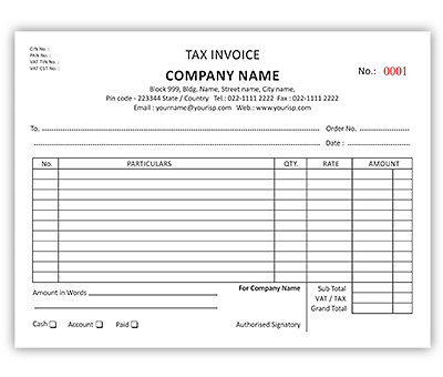 Services Bill Book Offset Printing Services From Mandi Himachal - Online invoice printing