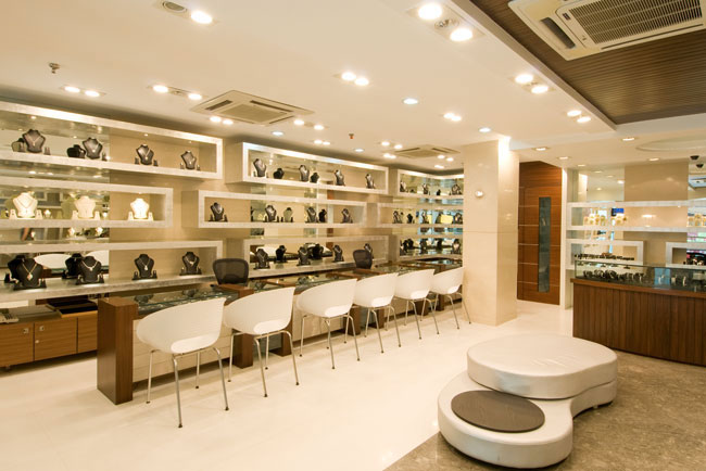 Services Jewelry Showroom Interior Designing From