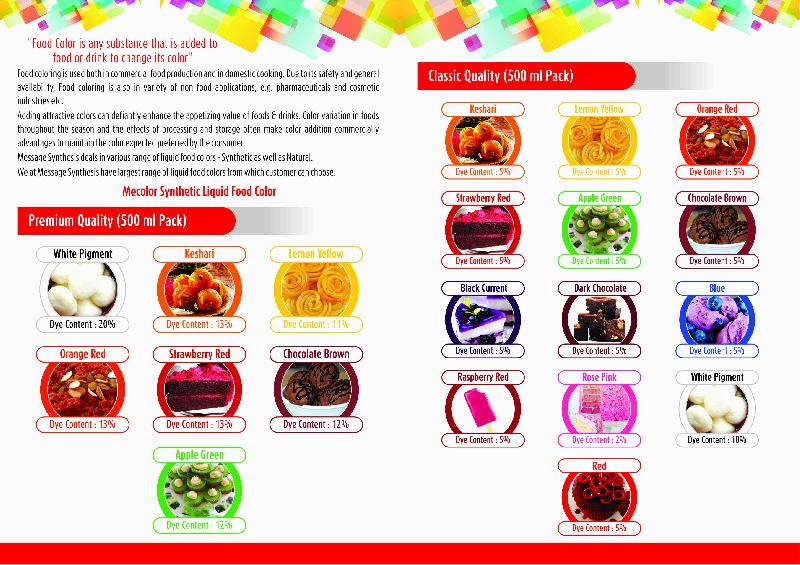 Natural Food Colours Manufacturer in Gujarat India by Message Food ...