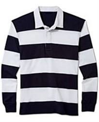 Mens Full Sleeve Striped Polo T-Shirts (MPS_010)