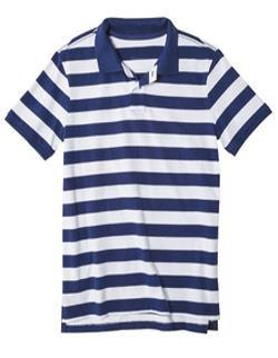 Mens Half Sleeve Striped Polo T-Shirts (MPS_003)