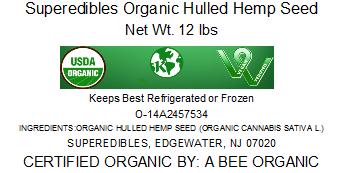 Superedibles Organic Hulled Hemp Seeds