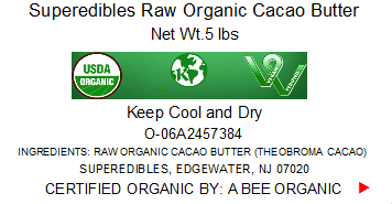 Superedibles Raw Organic Cacao Butter