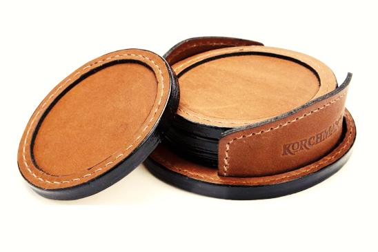 Elegant Leather Coasters