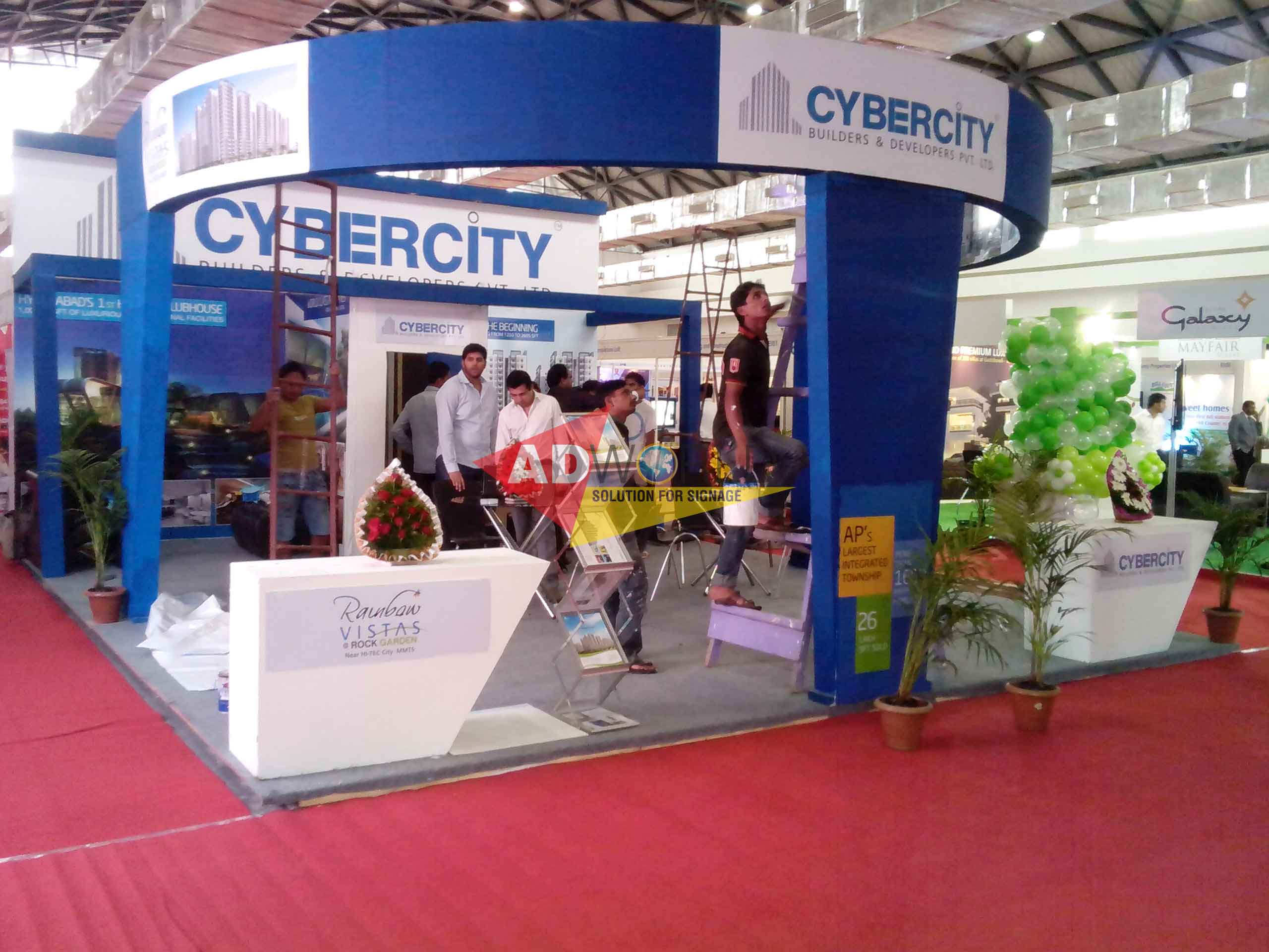 Exhibition Stall Fabricators Hyderabad : Buy exhibition stall designers from ad world signages private