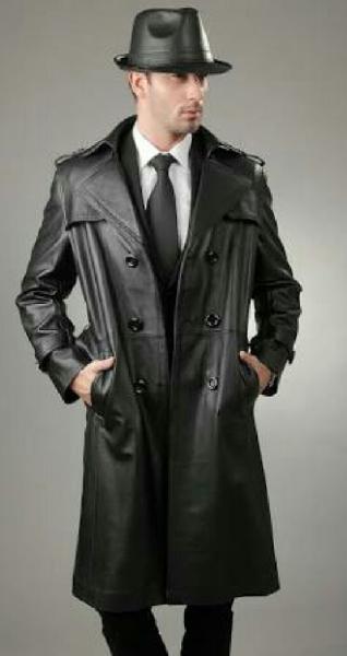 Mens Leather Trench Coat (ZIEPL0099008)