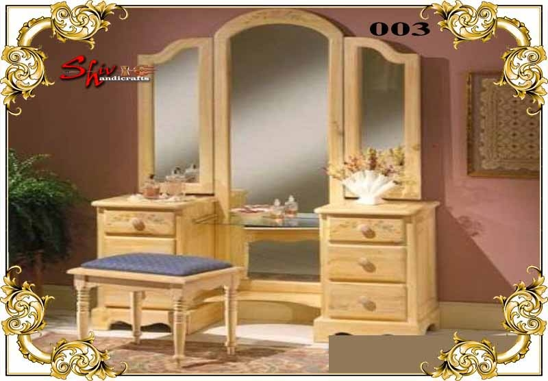 003 Wooden Dressing Table Manufacturer In Ahmedabad Gujarat India By