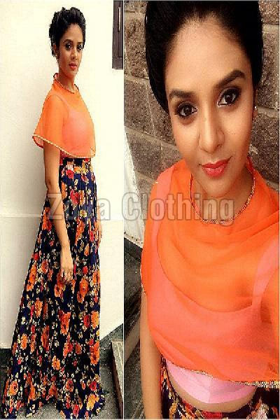 1c99e45b3ca Crepe Silk Floral Print Multicolour Lehenga Choli Manufacturer in ...