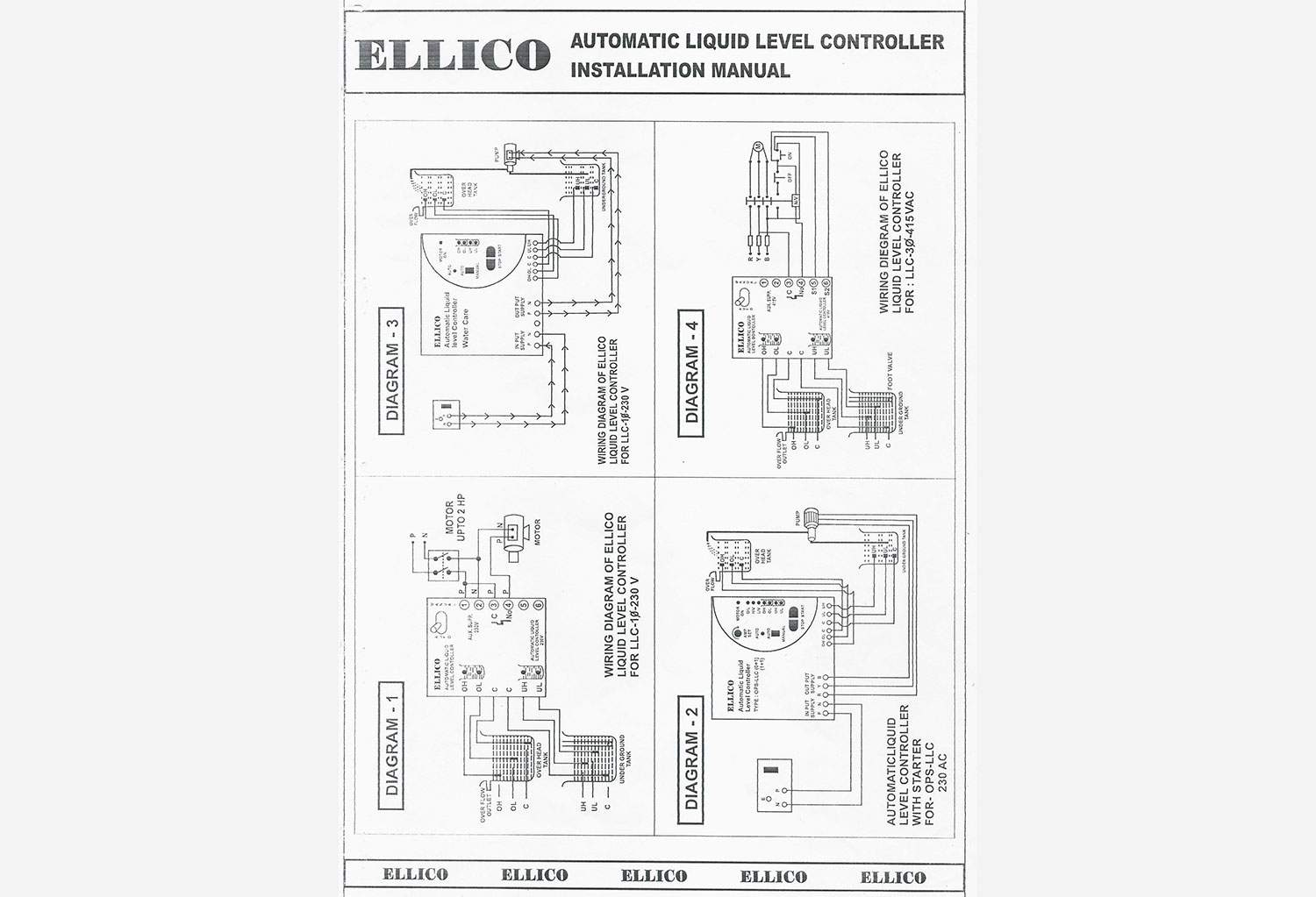 Circuit Diagram Of Automatic Water Level Controller | Est Llc 1 Automatic Water Level Controller Manufacturer In Ahmedabad