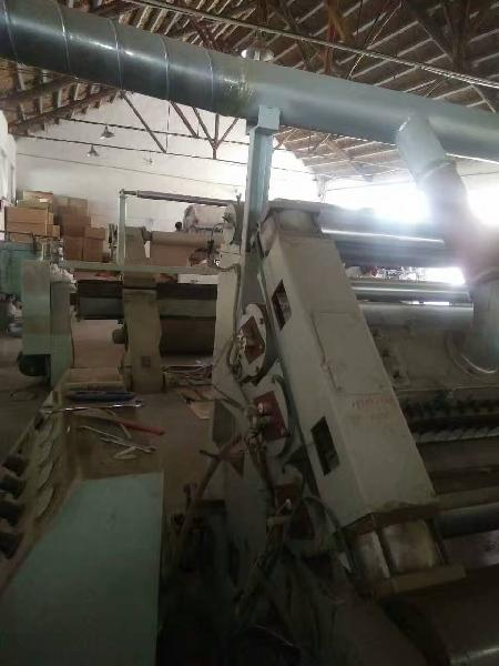 Second hand Used 1600mm Flute E 2-layer corrugated