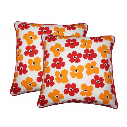 Lushomes Basic Printed Cotton Cushion Covers