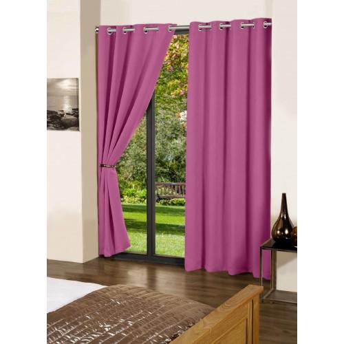 Lushomes Bordeaux Plain Cotton Curtains