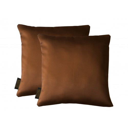 Lushomes Artistic Stitch Dark Brown Blackout Cushion Cover