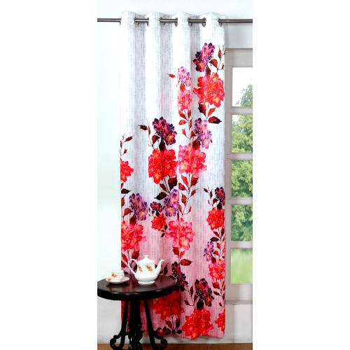 Lushomes Digitally Printed Flowery Polyester Blackout Curtains