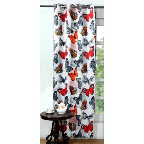 Lushomes Digitally Printed Graffiti Butterfly Polyester Blackout Curtains