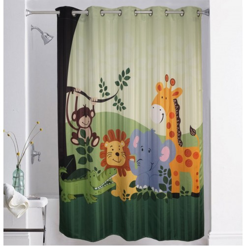 Lushomes Digitally 10 Eyelets Printed Kids Design 1 Shower Curtain