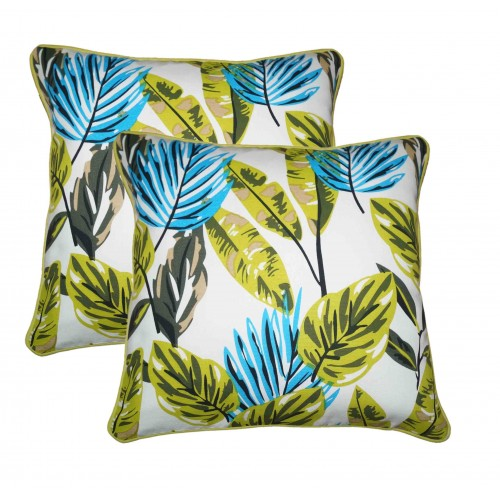 Lushomes Co-ordinating Cord Piping Forest Printed Cotton Cushion Covers