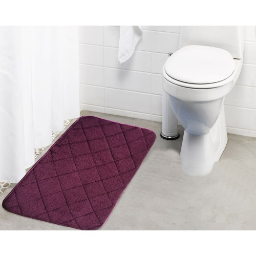 Lushomes Purple Cotton Large Ulra Soft Memory Foam Bathmat