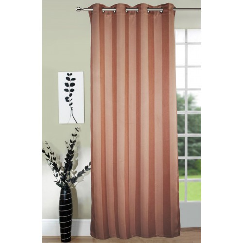 Lushomes Stripes Adorable Light Brown Door Curtain