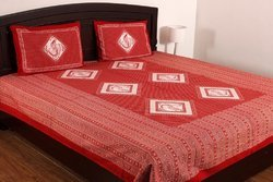 Jaipuri Cotton Double Bed Sheet With Pillow Cover