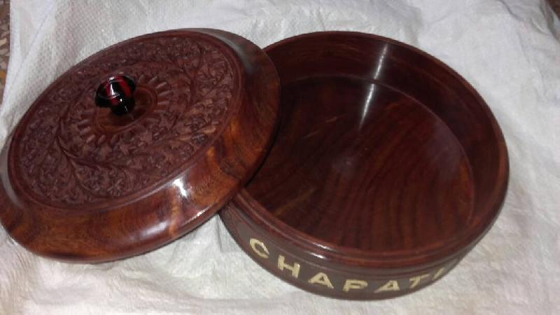 Wooden Chapati Box