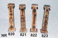 Wooden Incense Stick Burner Tower