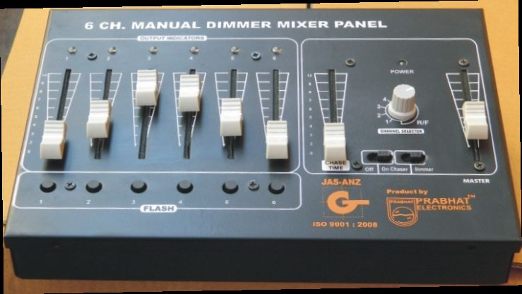 P600 6 CH Manual Dimmer Mixer Panel