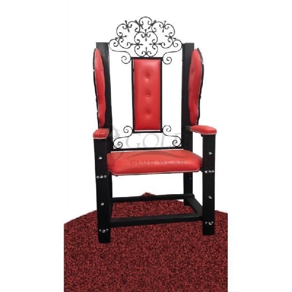 Red Fancy Bondage Chair (Gold2602)
