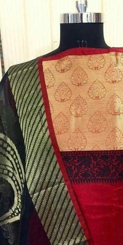 bc30496b1f Handloom Banarasi Silk Dress Material Manufacturer in Pune ...