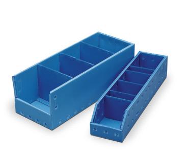 Corrugated Plastic Shelf Bins
