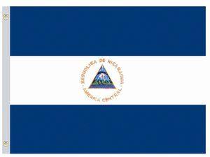 Nylon Nicaragua Government Flag