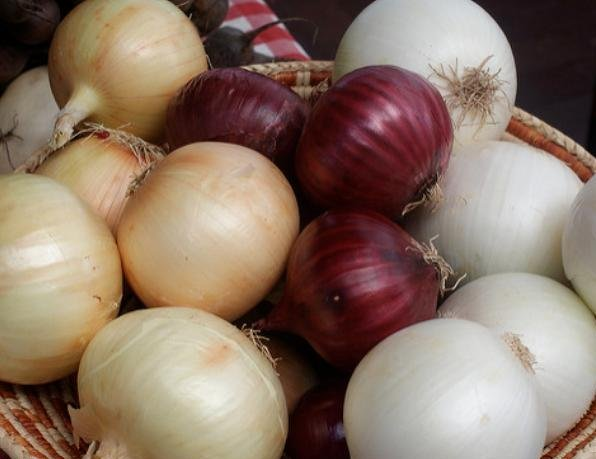 Fresh Red, Yellow and White Onion