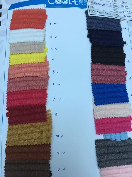 Knit Cotton and blends for sports and active wear
