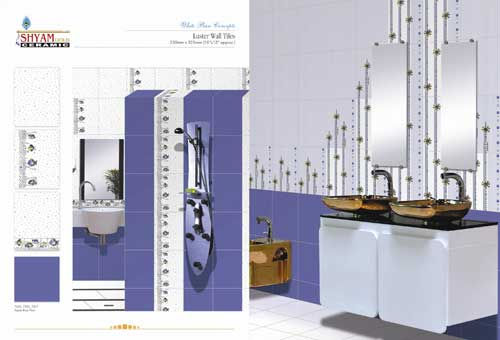 Bathroom wall tiles manufacturer manufacturer from morbi for Best bathroom designs india
