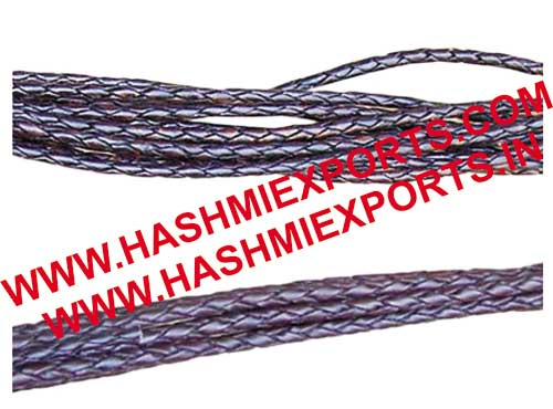 Flat Braided Leather Cord (HE-BFLC-01)