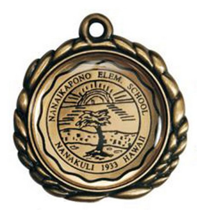 Brass Etched Medal