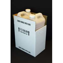Gallon F-Style Polyethylene Bottle with Shipper Carton