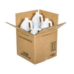 Gallon Round HDPE Bottles with Shipping Box
