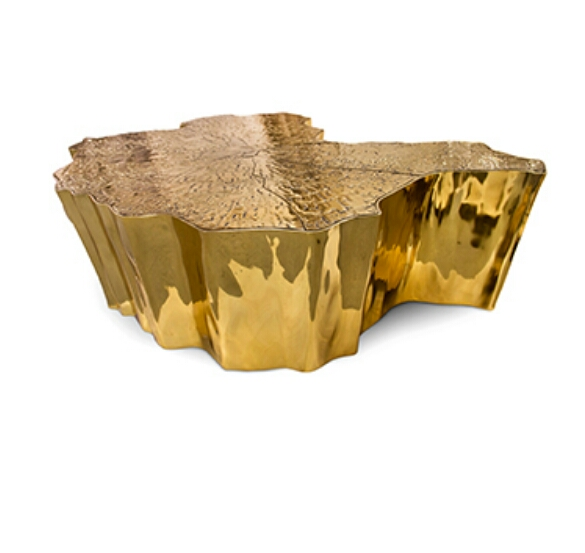 Brass And Wood Coffee Table Manufacturer In Moradabad