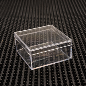Square Friction Fit Plastic Craft Boxes