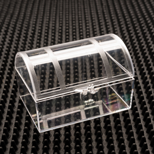 Treasure Chest Clear Plastic Hinged Boxes
