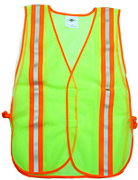 Fluorescent Green Safety Mesh Vest