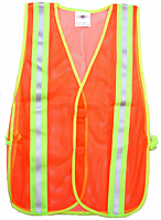 Fluorescent Orange Safety Mesh Vest