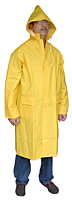 Polyester Two-Piece Yellow Raincoat