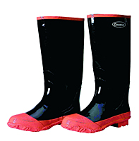 Reinforced Toe Cap Black Rubber Boots