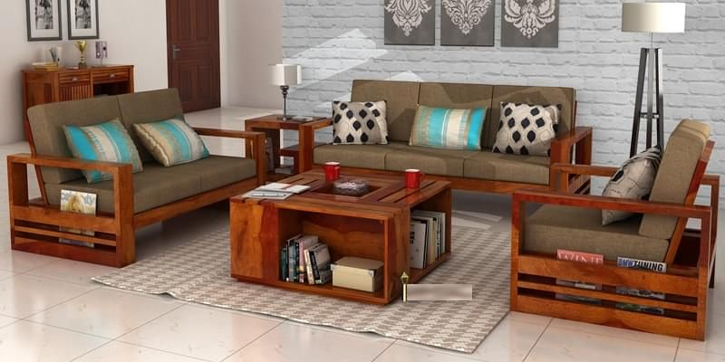 Wooden Sofa Set Manufacturer In Odisha India By Odissa Rexine Id