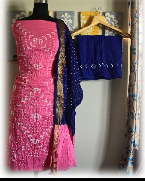 2d95641fe3 Cotton Silk Bandhani Dress Material Manufacturer in West Bengal ...