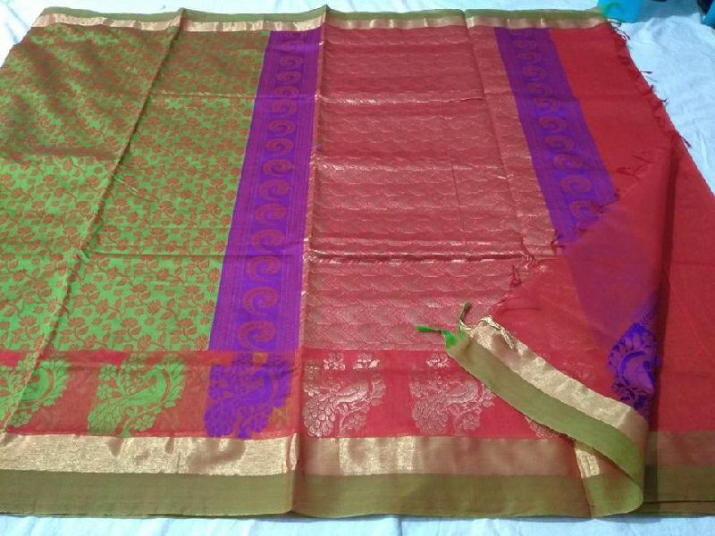04422006f5 mini kuppadam sarees with running blouse Manufacturer in West Bengal ...