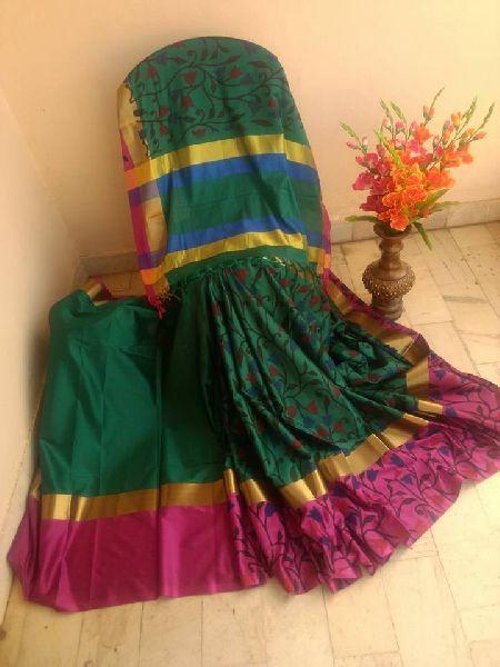 c3ba011c025f6 Pure original aura silk sarees with kalamkari prints Manufacturer in ...